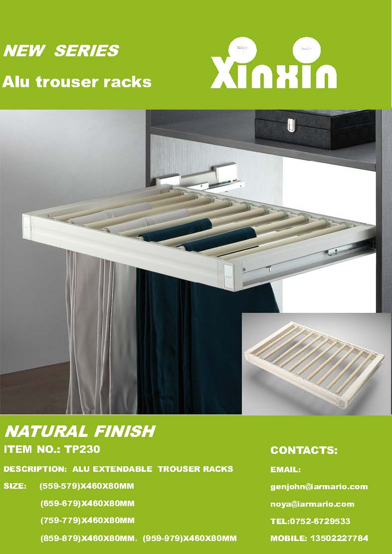 Alu trouser rack